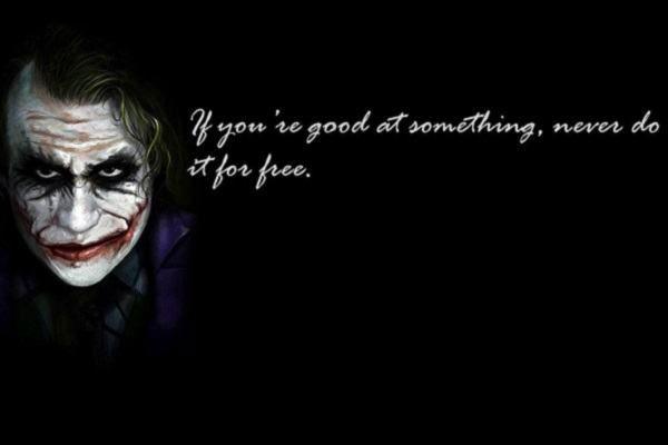 những câu nói hay của joker bằng tiếng anh